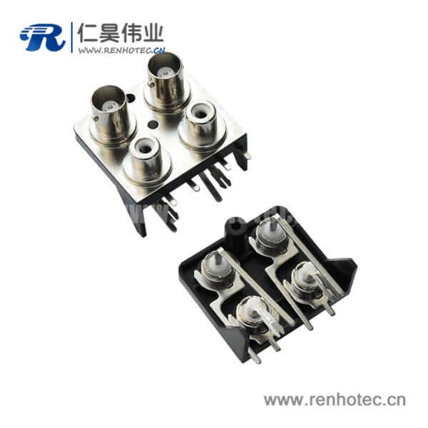 BNC连接器pcb连接器插座带RCA弯式射频接头