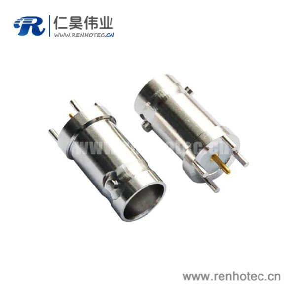 pcb插座直式锌合金 BNC射频同轴连接器