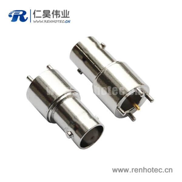 bnc连接器射频同轴直式母头锌合金PCB电路板