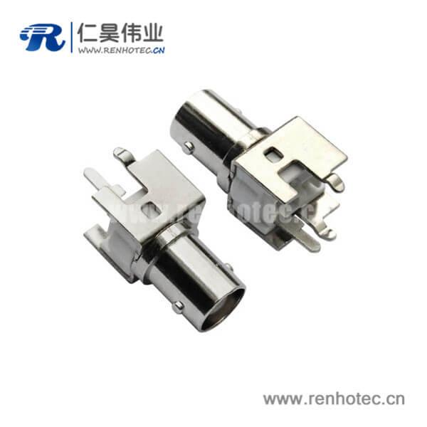 bnc射频连接器直式同轴母头PCB板端
