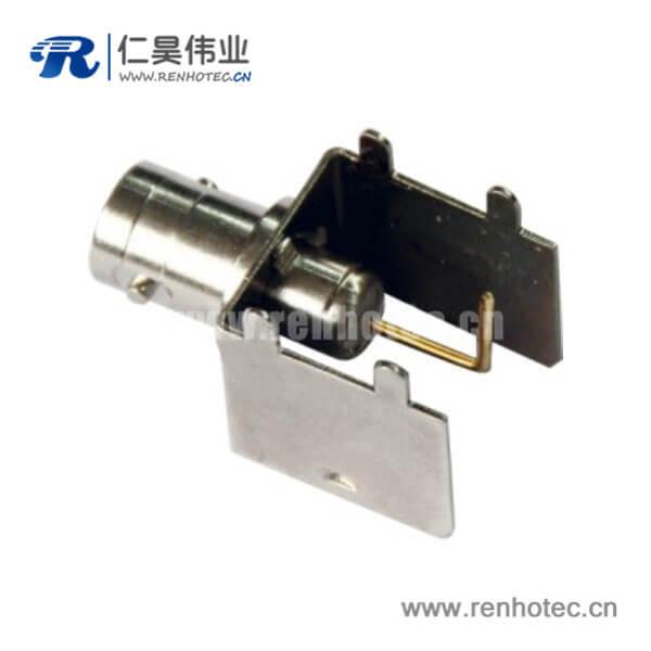 BNC弯式母头rf射频同轴连接器接PCB板