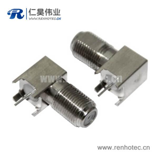 f型连接器母头pcb 板连接器射频同轴弯式
