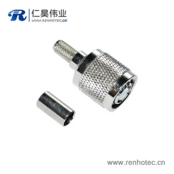 tnc射频连接器反极直式压接插头同轴接线RG58_59