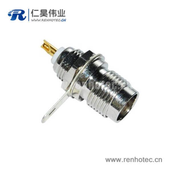 tnc射频连接器直式穿墙式母头面板安装