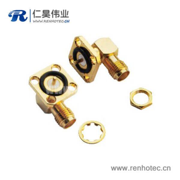 sma连接器防水4孔方向法兰面板射频同轴系列