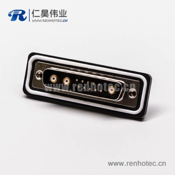 ip67 d-sub连接器公头直式车针同轴焊线