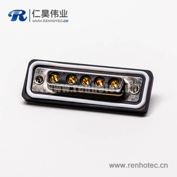 d sub焊线式连接器5w5母头直式接线焊接