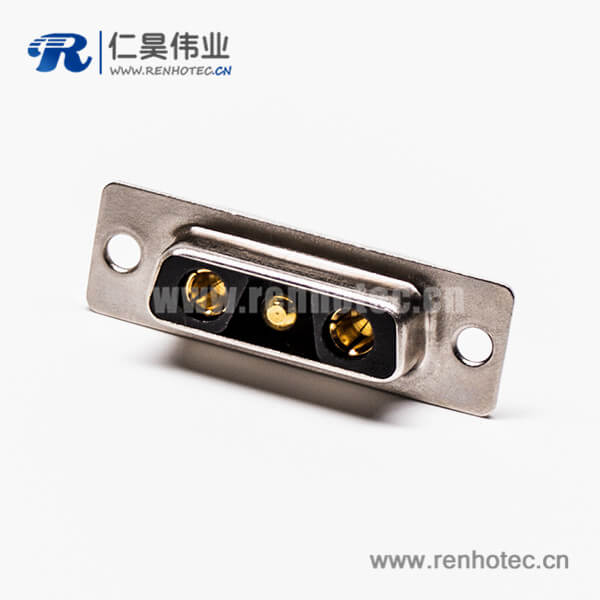 D-SUB 3w3焊线式大电流混合型直式母座