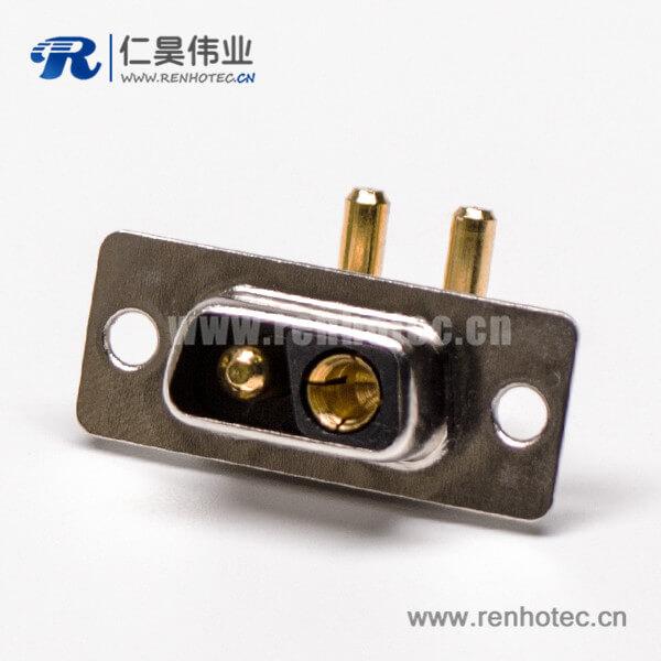 2V2 D SUB 大电流90°焊板 20A光孔铆合母座接PCB