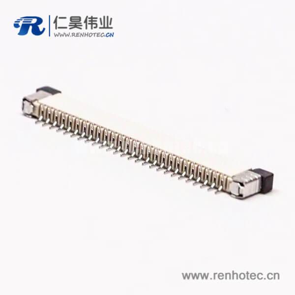 ffc/fpc扁平软排线插座封装1.0PH抽屉式上接2.0H