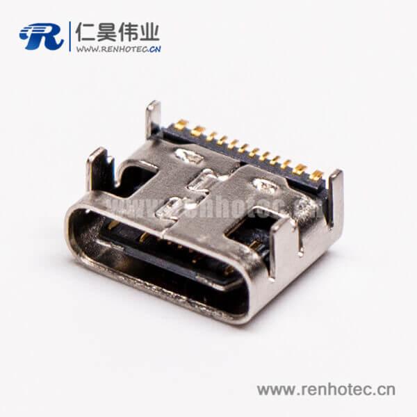 type-c母座usb3.0弯式SMT贴板接PCB