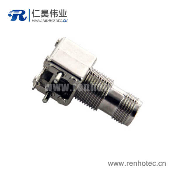 tnc射频连接器穿墙弯式母头pcb电路板安装