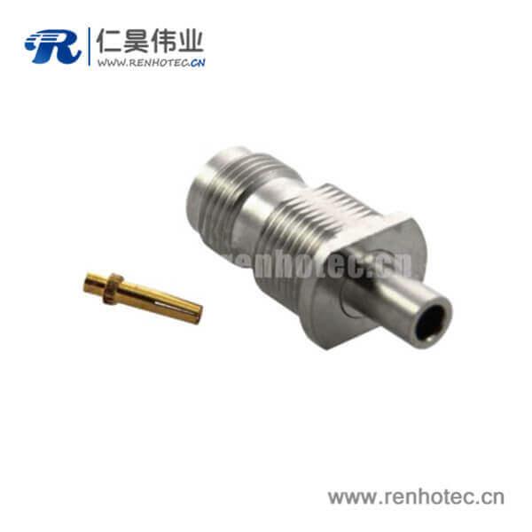 tnc连接器直式穿墙式母头焊接同轴线缆