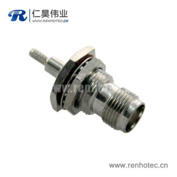 tnc射频连接器穿墙直式防水母头接线RG6_RG58_RG174