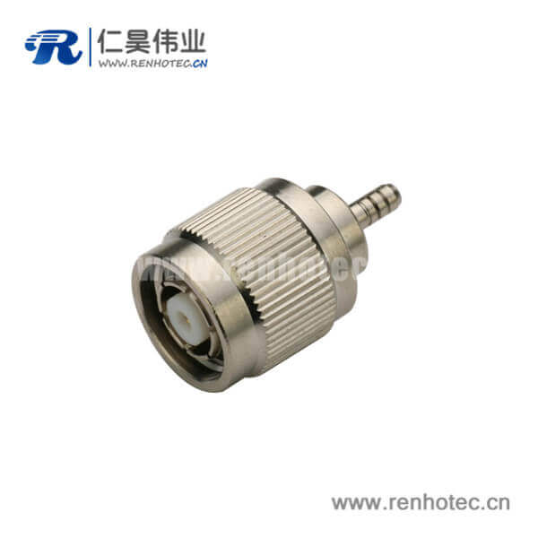 tnc插头反极直式压接射频同轴连接器