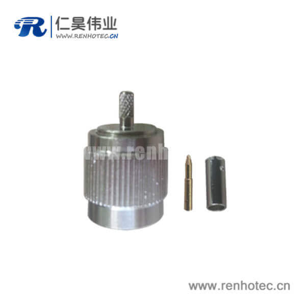 tnc射频同轴连接器直式压接线缆RG316