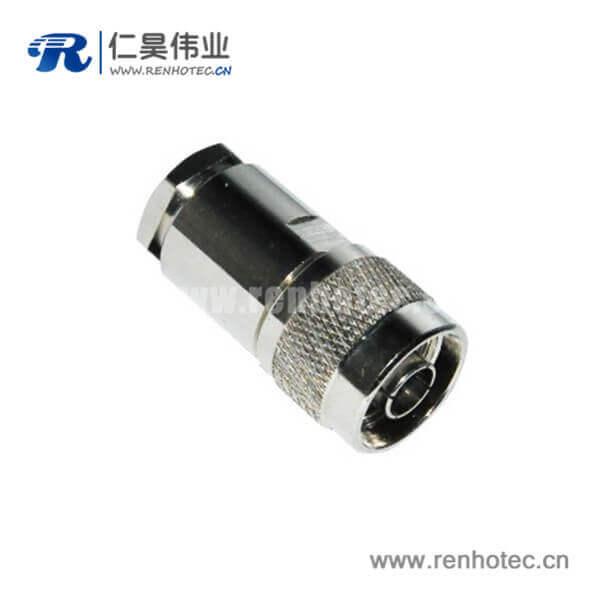 n型公头螺母锁紧式连接器射频同轴电缆接LMR200/300
