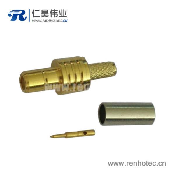 母头smb直式压接式电视射频接口线缆RG316
