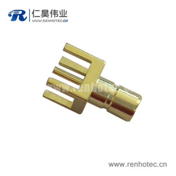 smb直插镀金母头pcb连接器电路板