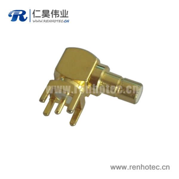 smb弯插母头针形引脚5脚接PCB板连接器