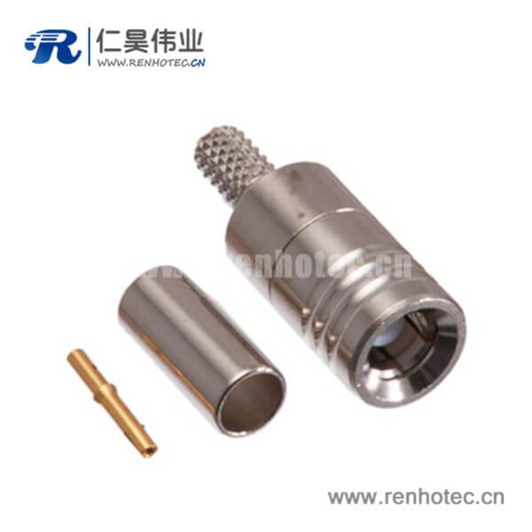 压接式smb连接器公头射频同轴连接器