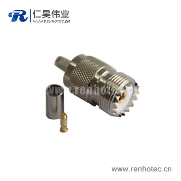 uhf直式母头压接式连接器同轴线缆LMR195