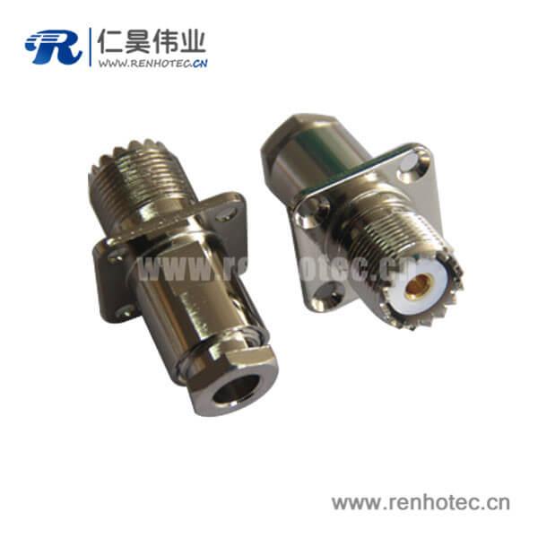 母头UHF连接器射频同轴电缆RG8 LMR200螺母连接