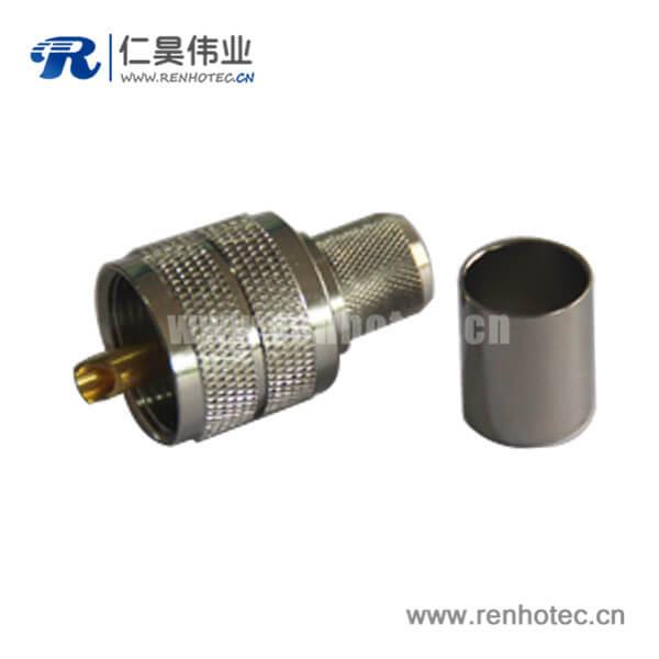 uhf直式压接连接器公头同轴电缆rg58 LMR300