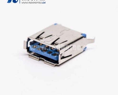 180度usb3.0母座直式dip直插PCB板