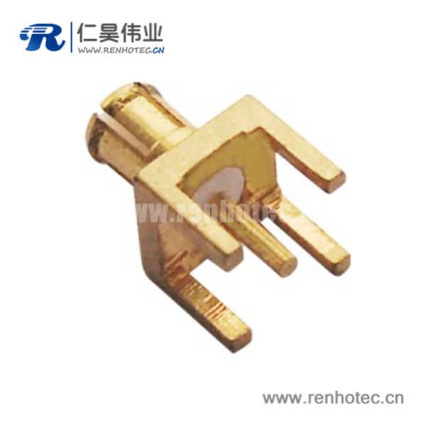 mcx连接器公头镀金直插式PCB板端接头