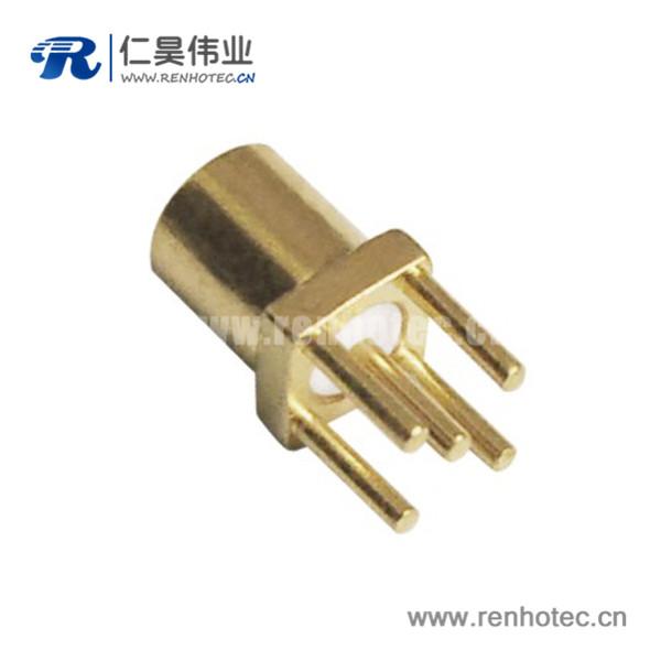 MCX连接器射频同轴直插式母头PCB板端