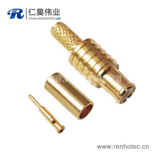 MCX直式压接公头接RG174同轴连接线缆