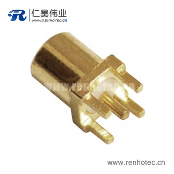mcx母头直插式面板安装射频pcb连接器