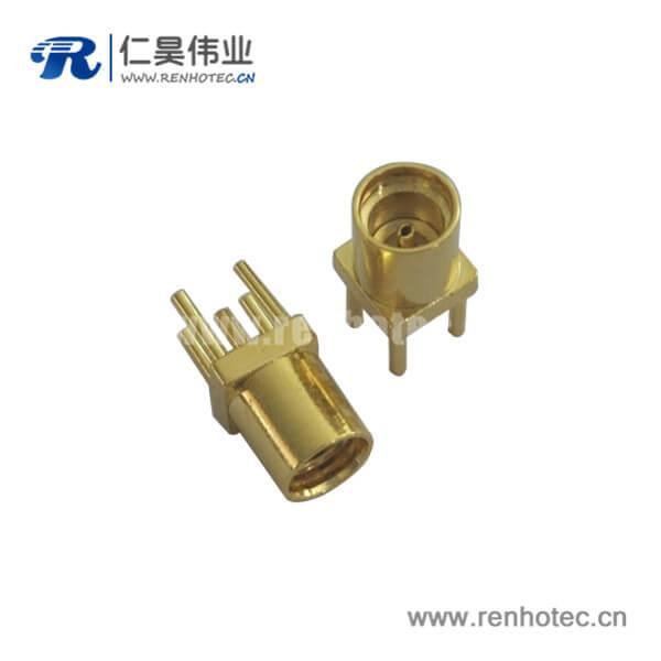 直插式镀金mmcx母头射频pcb连接器