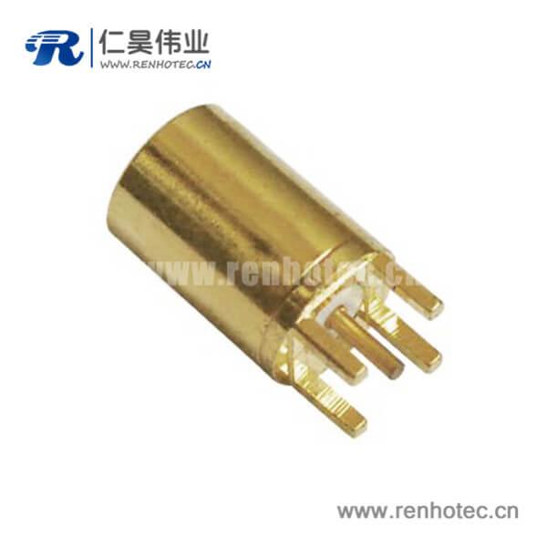 mmcx连接器镀金母头直插PCB板端