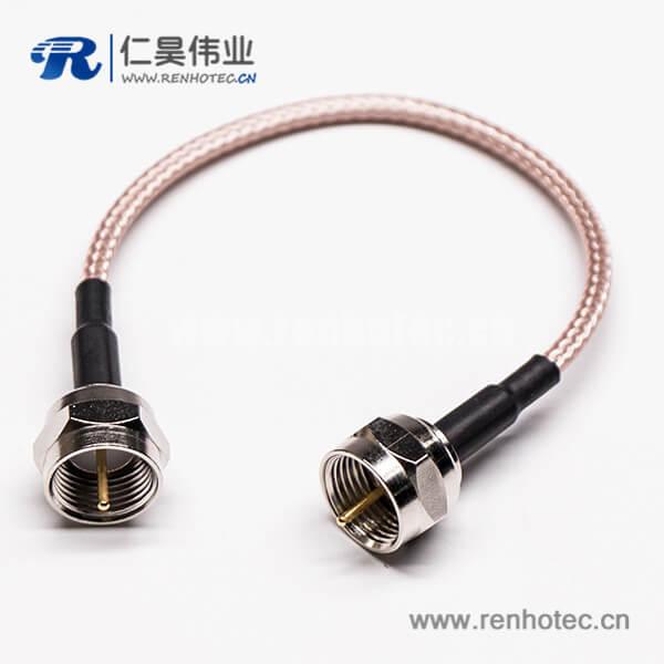 F头转公头直式180度压接式组装线材