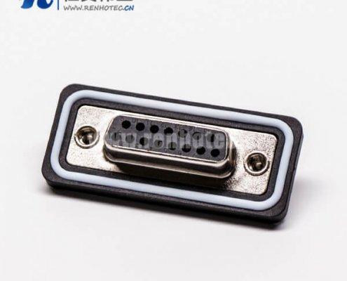 db15母头双排直式车针接线焊接防水