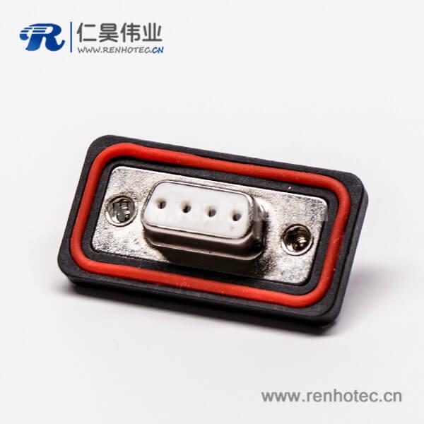 4引脚插头d-sub防水白色胶芯车针接线