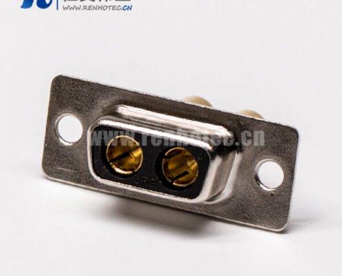 d sub焊接式2w2大电流直式光孔铆合母座接PCB板