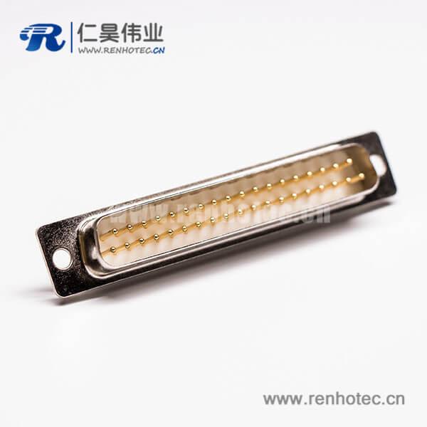DB37指针公头车针连接器插孔接PCB板