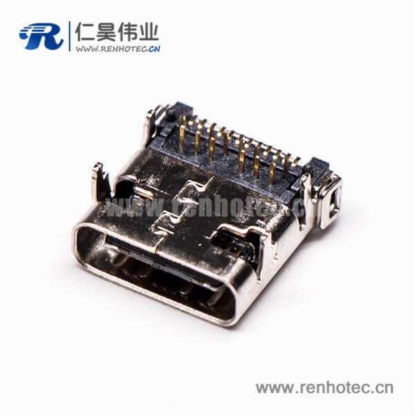 type-c接口和usb3.1连接器弯式插板贴板母头接PCB板