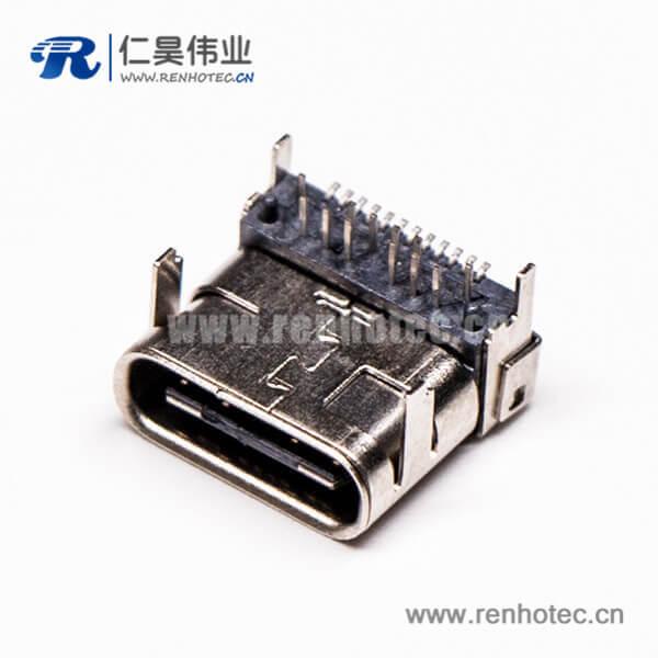 usb3.1和type c接口弯式90度插板母头贴板