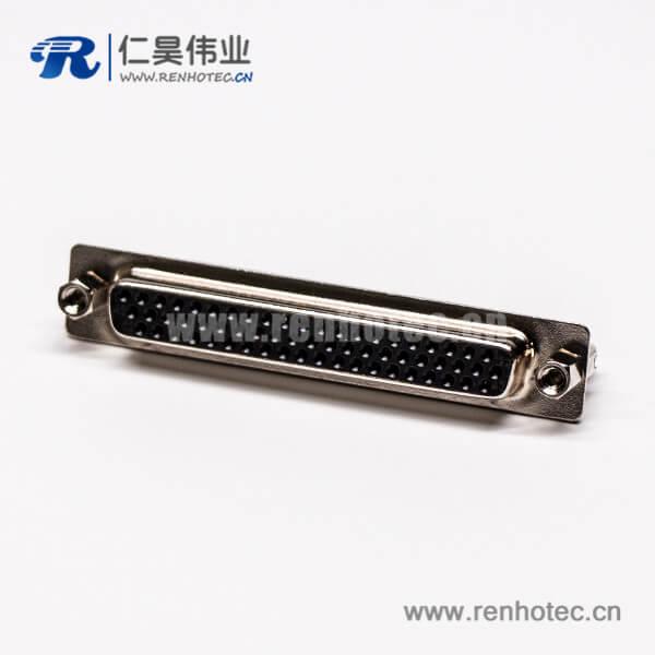 db62连接器公头直式铆锁黑色胶芯穿孔接板高密度