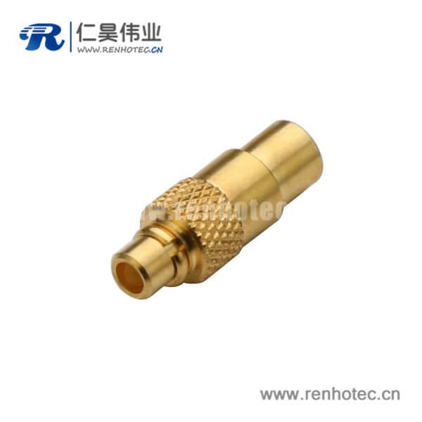 mmcx连接器焊接直式公头接UT086同轴线缆