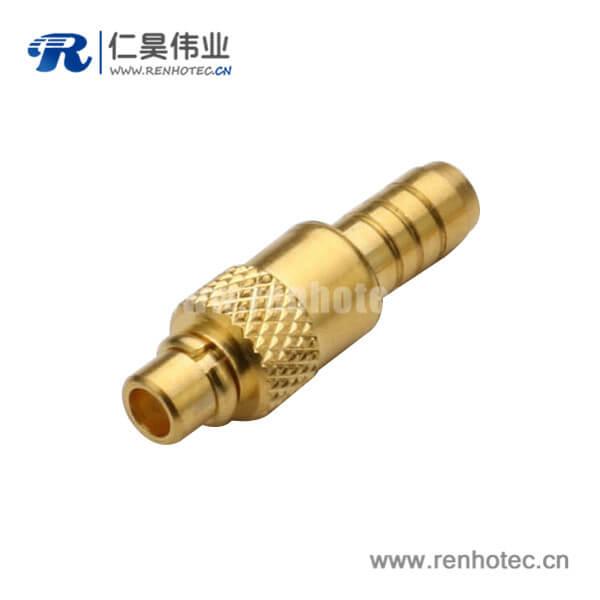 rf连接头公头mmcx直式压接式同轴线缆RG316