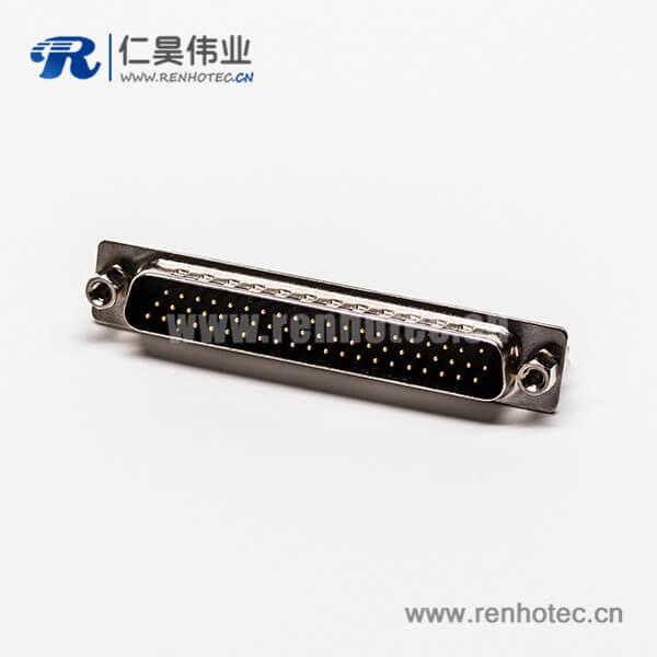 db62连接器高密度公头直式铆锁式插孔接PCB板