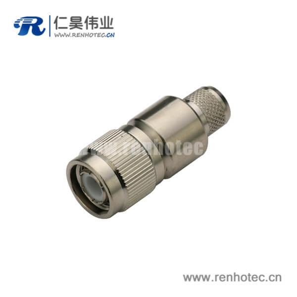 直式压接公头同轴线缆接线LMR400,RG8,213 tnc连接器