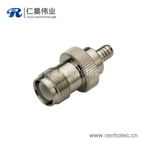 tnc接头母头压接直式同轴线缆接线RG316