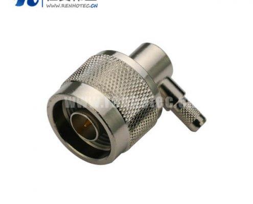 N型连接器同轴线缆RG316D/S弯式压接公头