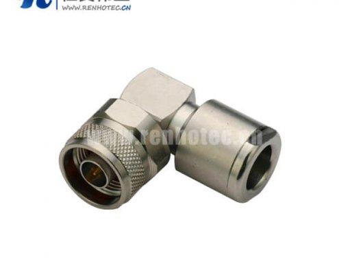 n型射频头公头弯式压接连接线RG213